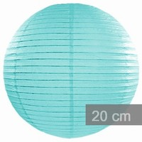 Lampion kulatý 20cm Tiffany blue