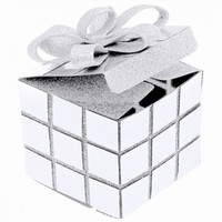 KRABIČKA Rubikova kostka bílá 7x7x10cm 02efb50e2a3